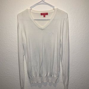 Men's GUESS White Sweater
